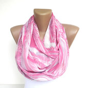 scarf,infinity,infinity scarf,scarves,scarve,neon,pink,chiffon,fashion scarf,gift ideas,etsy,wrap,fabric,sewing