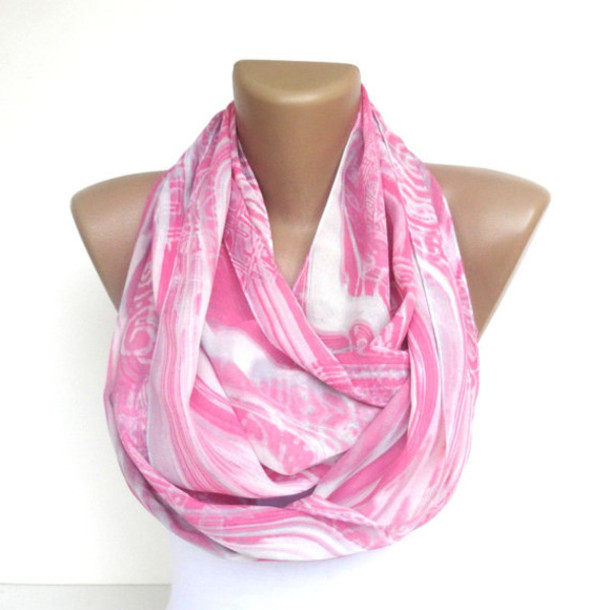scarf infinity infinity scarf scarves scarve neon pink chiffon fashion scarf gift ideas etsy wrap fabric sewing