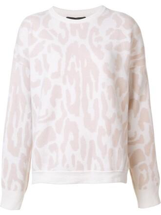 jumper women print purple pink leopard print sweater
