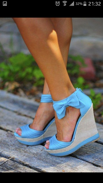 shoes bleu chaussures ? talons girly noeud papillon