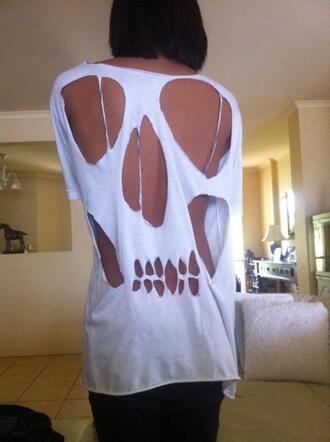 t-shirt skull t-shirt skull shirt cut shirt skeleton