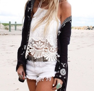 top white top patterned white crochet top