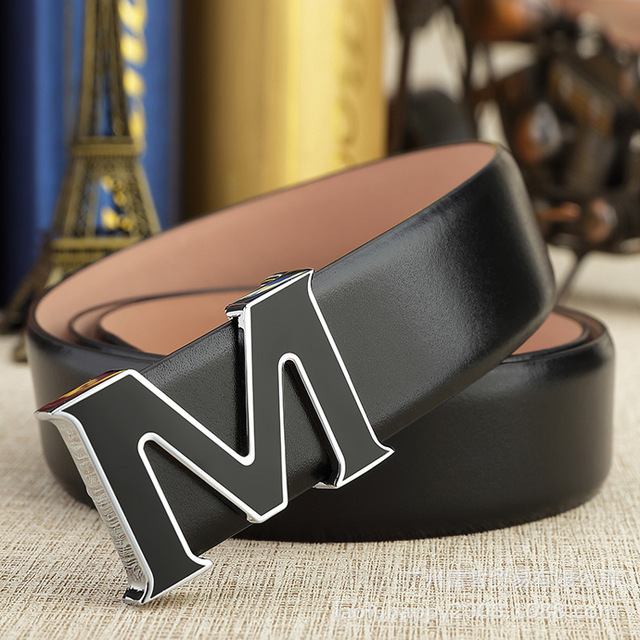 Aliexpress com : Buy 2015 Fashion Mochino MC Belt M Slide Buckle Black MC  Belts For Men And Women Genuine Leather from Reliable belt plastic buckle