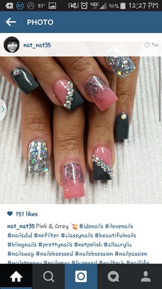 nail polish nail art glitter