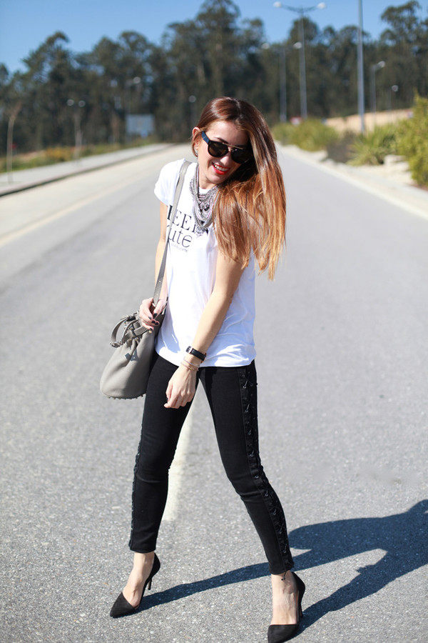 b a r t a b a c t-shirt jacket jewels pants shoes sunglasses bag