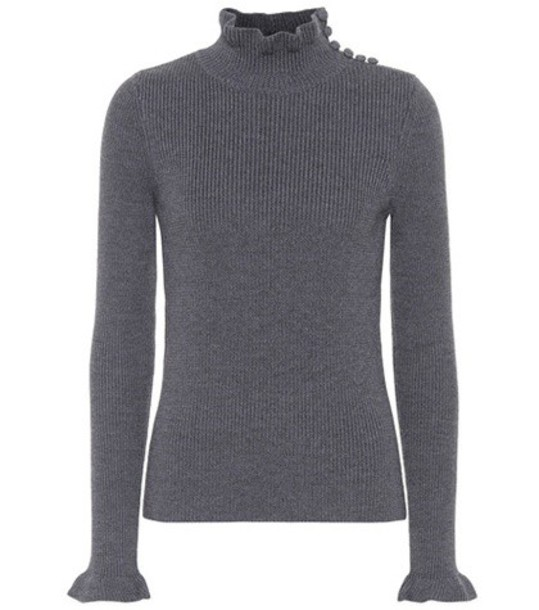 See by Chloe sweater turtleneck turtleneck sweater wool grey