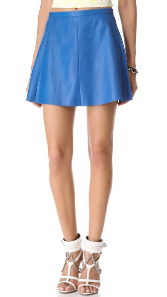 Leather Blue Moon Leather Miniskirt | SHOPBOP