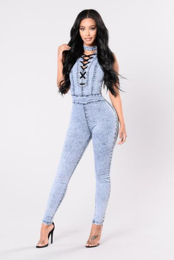jumpsuit acid denim