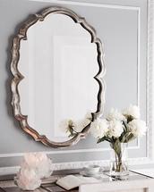 home accessory,tumblr,mirror,flowers,home decor,metallic home decor