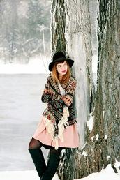 secret garden,blogger,dress,knitted cardigan,winter outfits