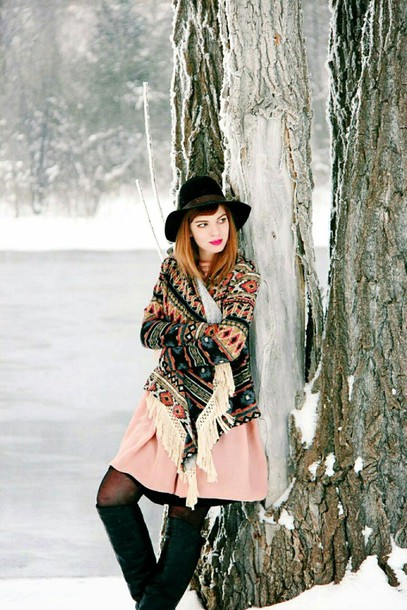 secret garden blogger dress knitted cardigan winter outfits