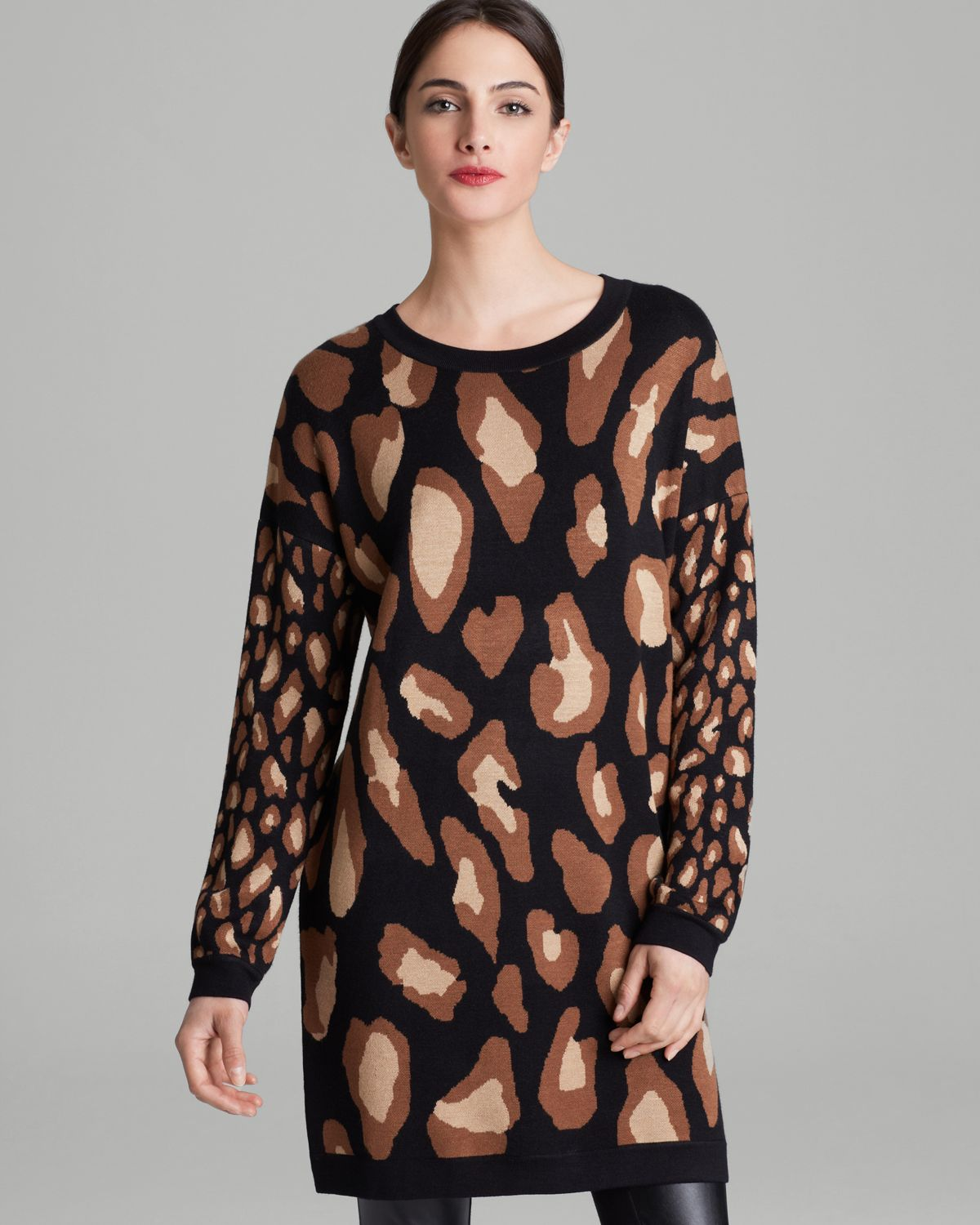 DKNY Animal Print Tunic | Bloomingdale's