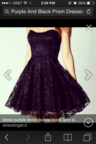dress purple black dress prom dress purple dress