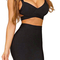 Crisscross cutout back two piece set black