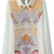 ROMWE | Retro Totem Print Diamante White Blouse, The Latest Street Fashion