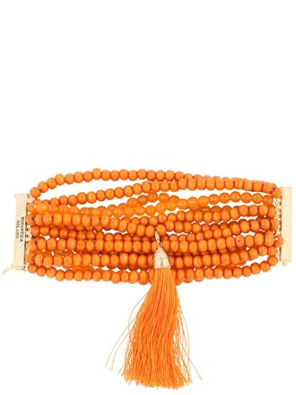 beaded orange jewels