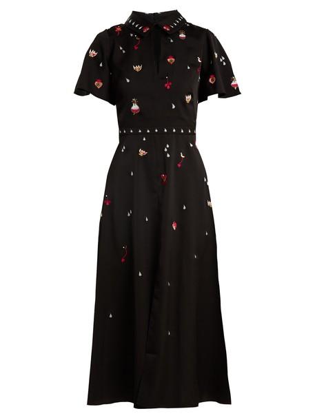 dress midi dress midi embellished satin black