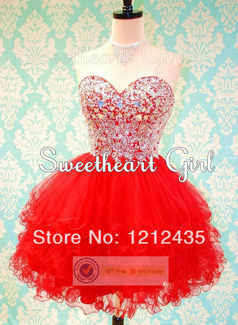 Red Short Sweet 16 Dresses_Other Dresses_dressesss