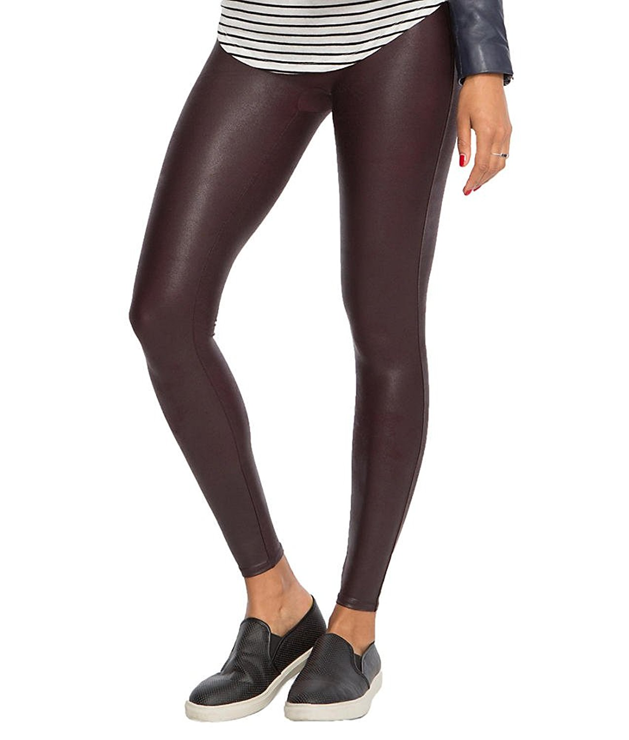 2313646ae470 SPANX Women s Ready-to-Wow Faux Leather Leggings