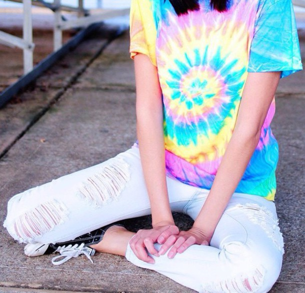 shirt tie dye blouse bag
