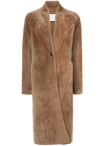 Adam Lippes coat car coat long women car brown