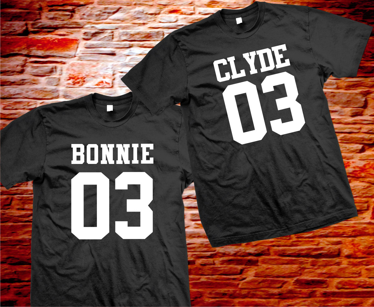 couple bonnie and clyde t shirts. Black Bedroom Furniture Sets. Home Design Ideas