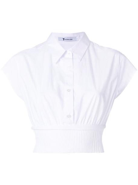Alexander Wang shirt cropped shirt cropped women white cotton top