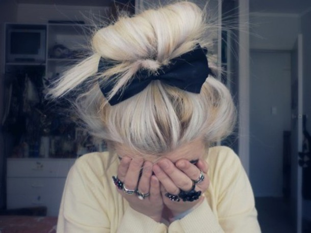 jewels bow black headband hat hair accessory black accesories pastel hair