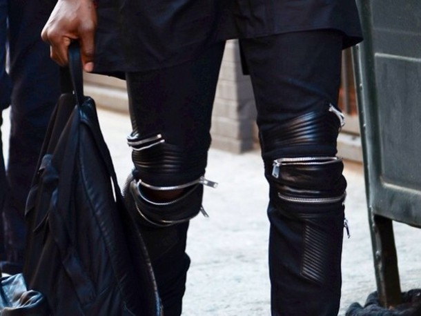 how to make black jeans look like leather