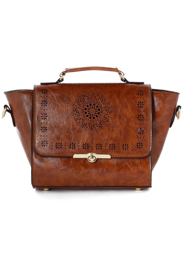 bag chicwish dandelion cut-out satchel bag