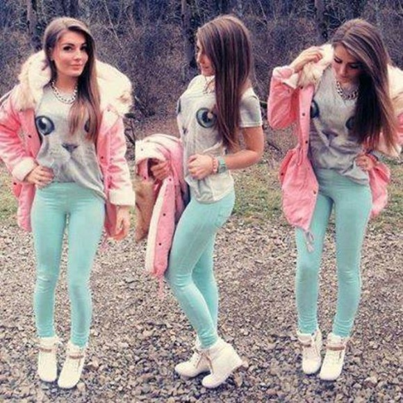 jacket coat pants pastel cat shirt giuseppe zanotti