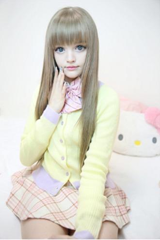 cardigan dakota rose kotakoti dakota ostrenga kawaii school girl sweater pastel pastel pink pastel yellow yellow girly cute cute sweaters cute outfits purple lilac pastel purple ulzzang
