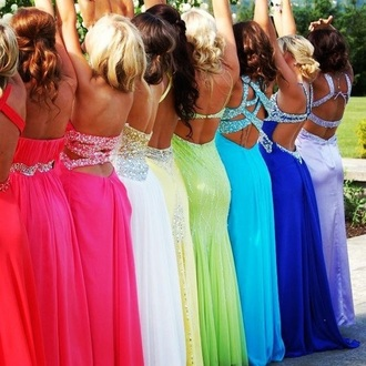 dress pink green blue orange purple sparkle long prom dress prom dress sexy party dresses gloves
