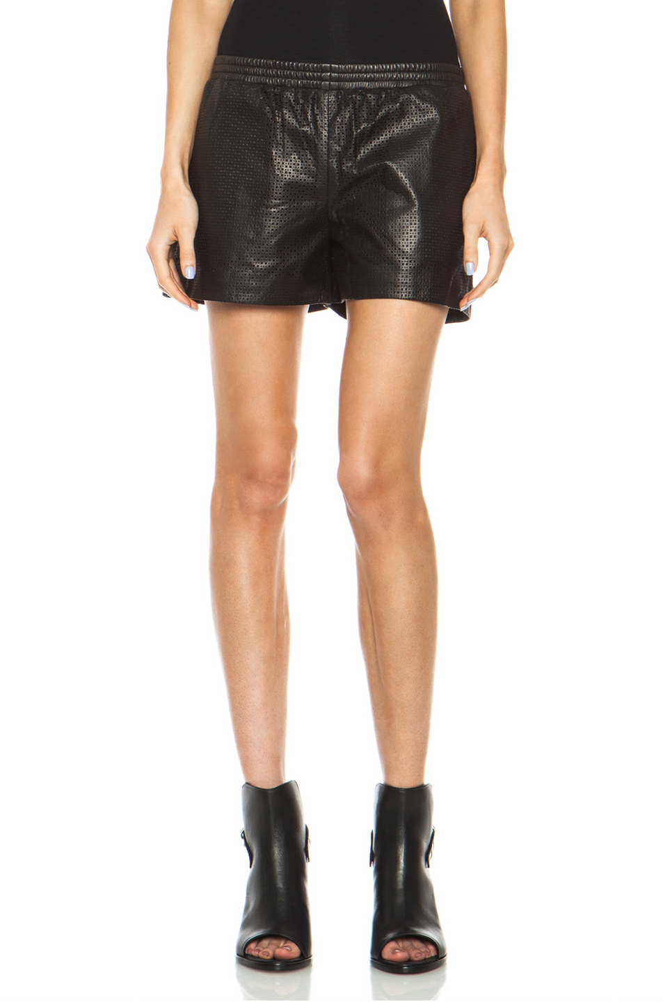 Vince | Boxer Leather Shorts in Black