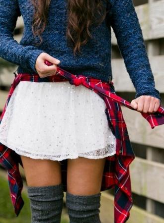 skirt white skirt white style sparkle white sparkle cardigan