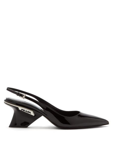 embellished pumps leather white black shoes