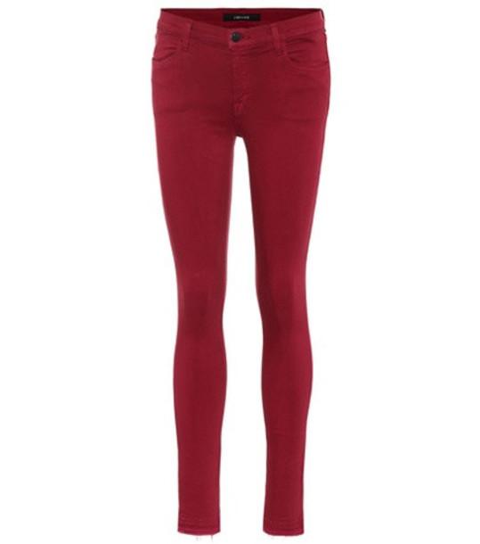 J Brand 620 Super skinny jeans in purple