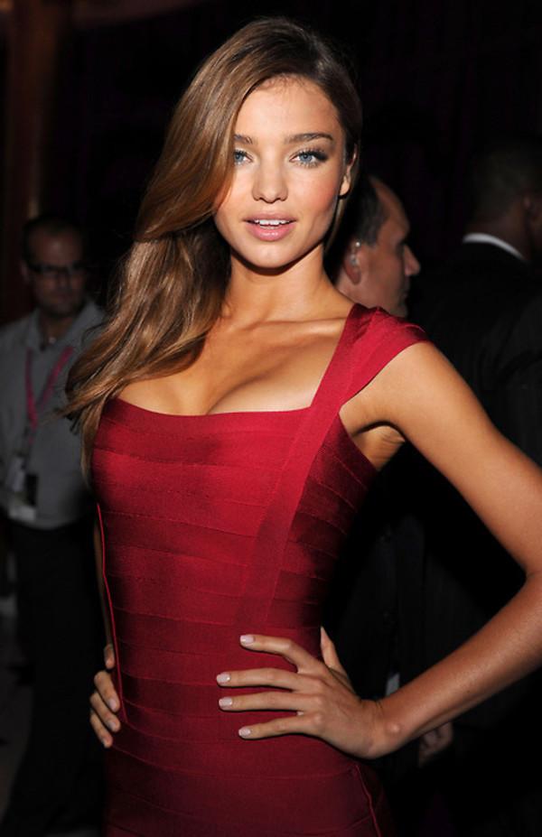red dress miranda kerr victoria's secret model victoria's secret red