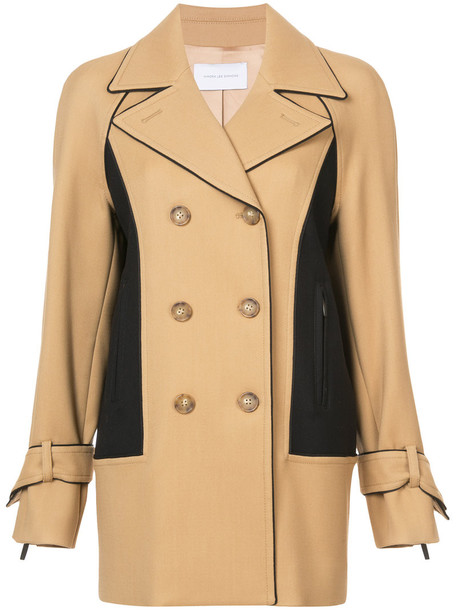 Kimora Lee Simmons women spandex nude wool coat