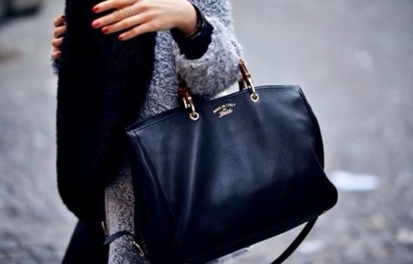 bag black bag black purse chic classy leather bag black leather bag tumblr