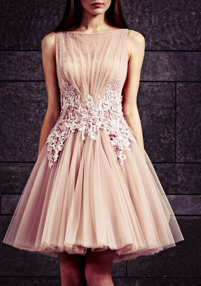 dress pearls beautiful sparkle mude pink flowers