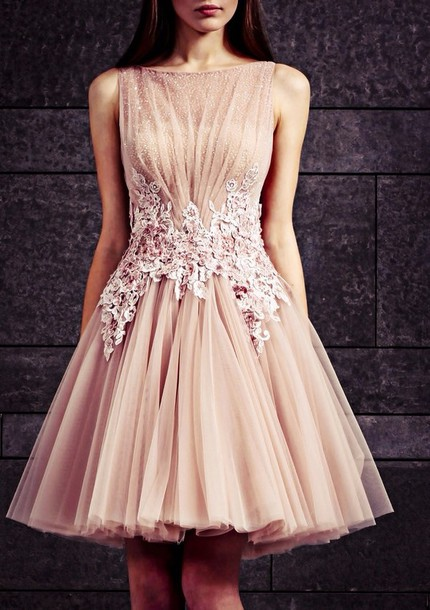 dress beautiful pearl sparkle mude pink flowers peach details beige dress pink dress flowerdress bling dress prom dress cute dress unique dress dress cute amazing cool gorgeous prom rose homecoming design short dress beige glitter high neck dress ruffle