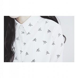 blouse white korean fashion style korean style