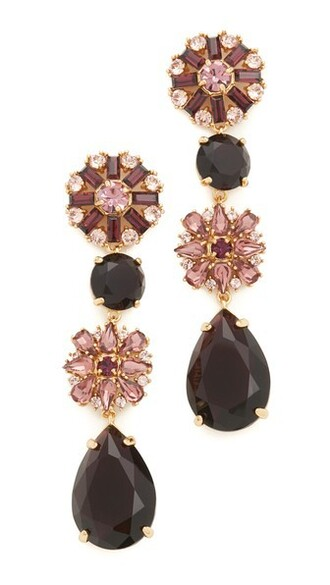 statement earrings purple jewels