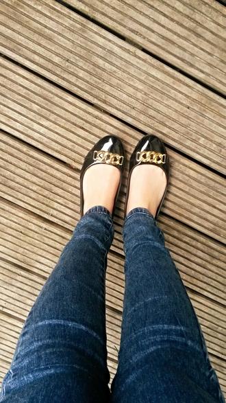 shoes black heels jeans