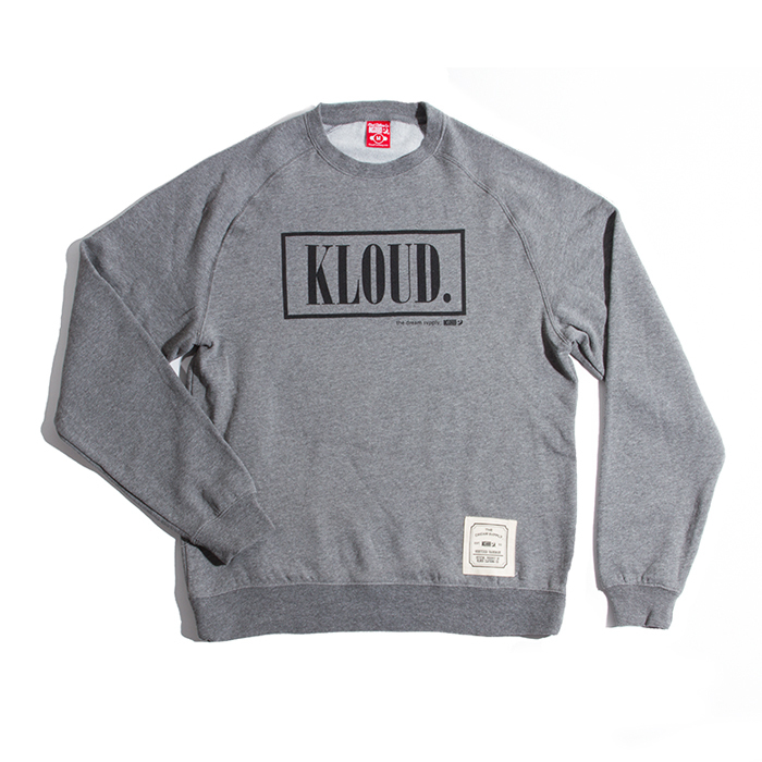 Kloud designer crewy grey — kloud clothing co