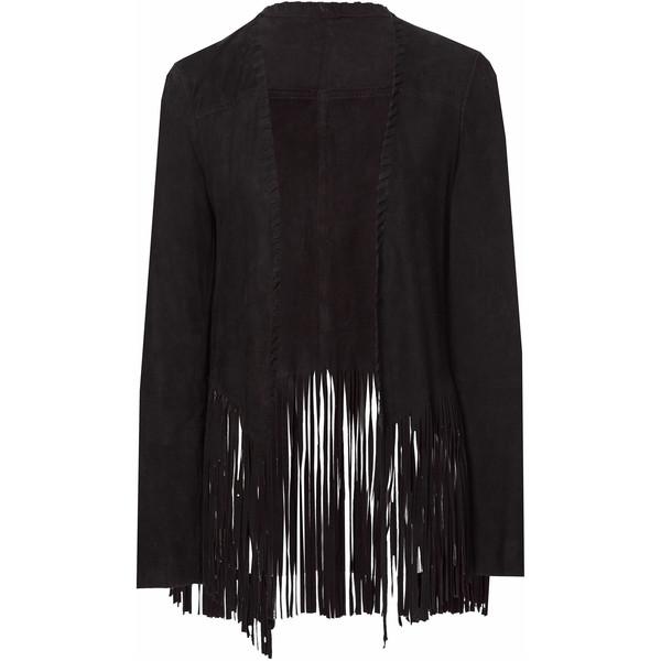 Zara Fringed Suede Jacket - Polyvore