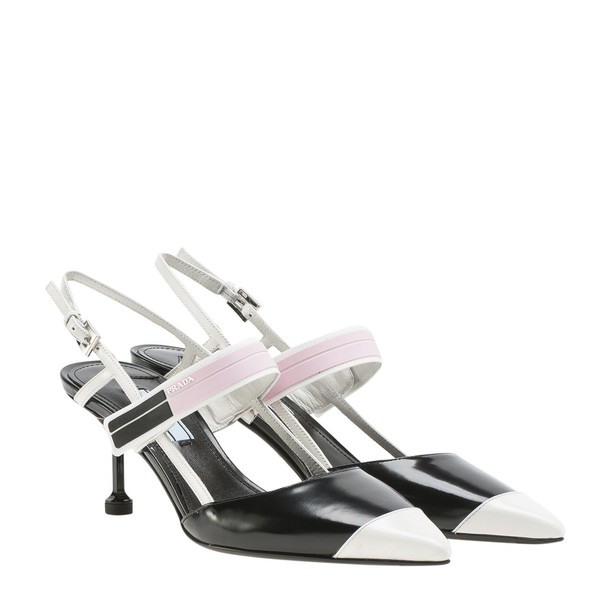 Prada slingbacks rose black shoes