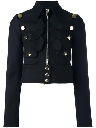 jacket cropped black