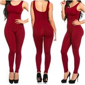 jumpsuit,boutique beau monde,scoop neck jumpsuit,burgundy,burgundy jumpsuit